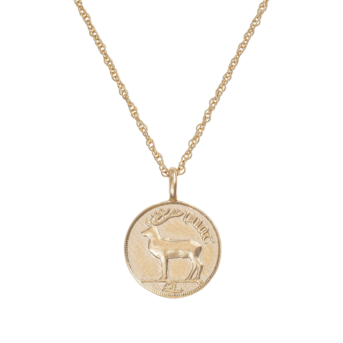Chupi-Solid-Gold-Worth-Your-Weight-in-Gold-1990-Stag-Coin-Necklace-1